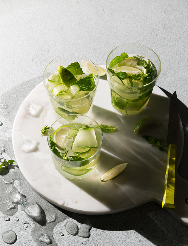 CUCUMBER, LIME, CORIANDER SEEDS AND SIMPLE SYRUP GIN-1